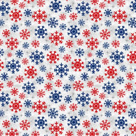 Christmas USA from Windham Fabrics #51667-4- White Snowflakes