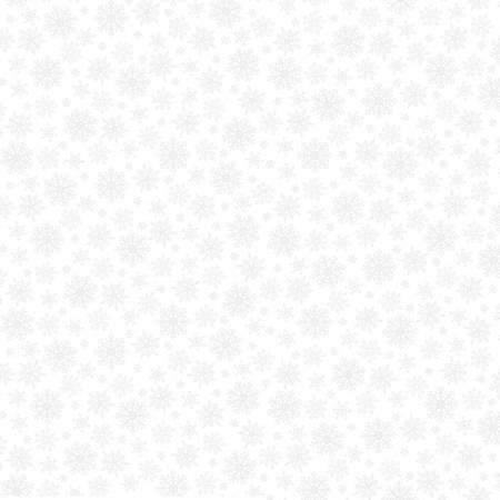 51694A-1 White on White Snow Flakes White Out Whistler Studios Windham