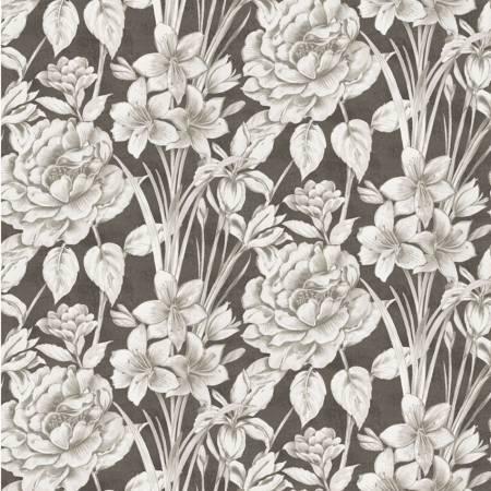 Marguerite 51798-1 Charcoal Large Floral