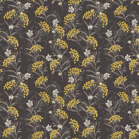 Marguerite 51799-1 Charcoal Button Flower