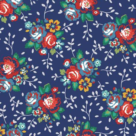 Backyard Blooms-Backyard Blooms-Navy