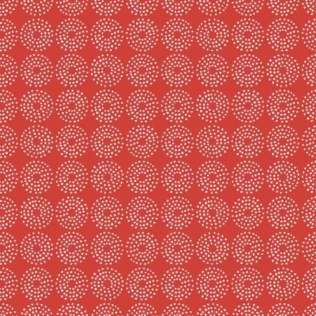 Backyard Blooms Red Circles Dots
