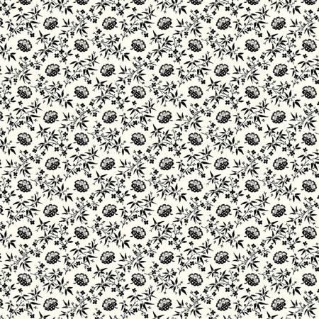 Scarlett Black Floral Lattice 51846-3