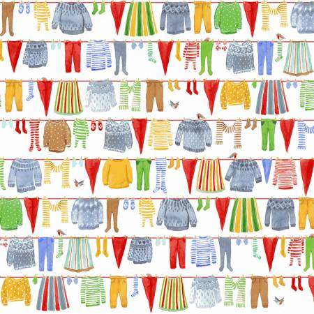 Windham Winter Gnomes 51875-2 Snow White Gnomes Laundry Organic Cotton