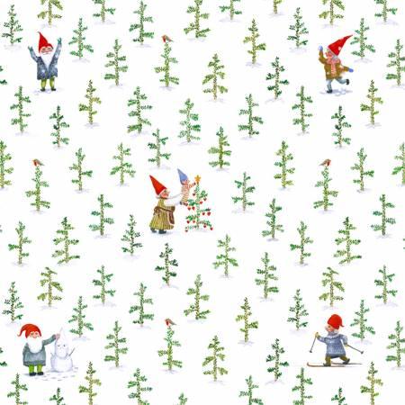 Windham Winter Gnomes 51876-2 Snow White Tree Farm Organic Cotton
