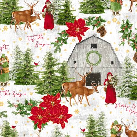Windham Whistler Studio Comfort and Joy 51883M-1 Snow Tis The Season w/Metallic