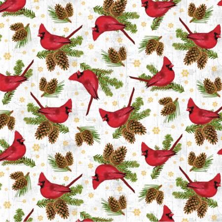 Windham Whistler Studio Comfort and Joy 51885M-1 Snow Cardinals w/Metallic
