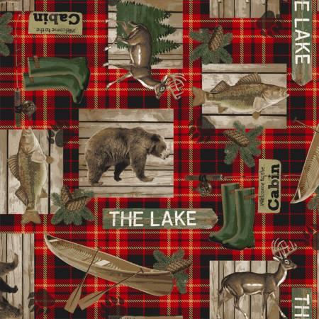 Lake House Red Lake House Plaid