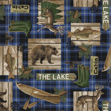 LAKE HOUSE WILDLIFE PLAID MULTI