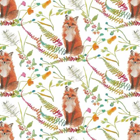 Fox Wood : Curious Fox White - #51919-1 - Betsy Olmsted
