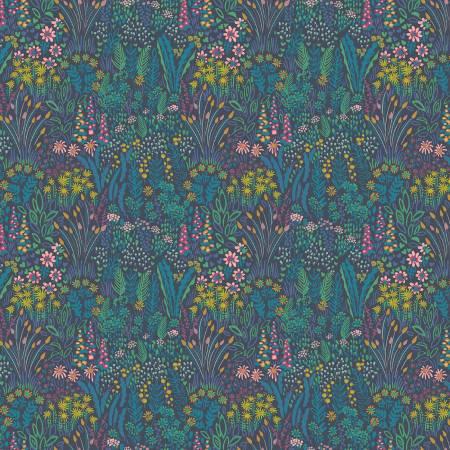 Solstice, Meadow print in Navy Garden Floral