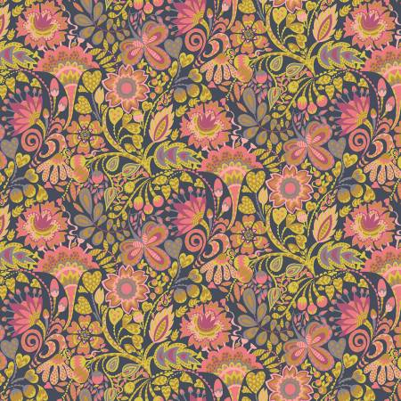 Solstice, Windy Print in Pink Floral