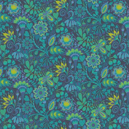 Solstice Navy Floral 51930-2