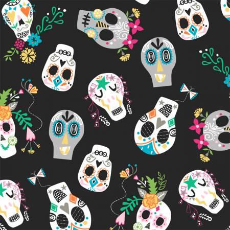 Fiesta Sugar Skulls on Black