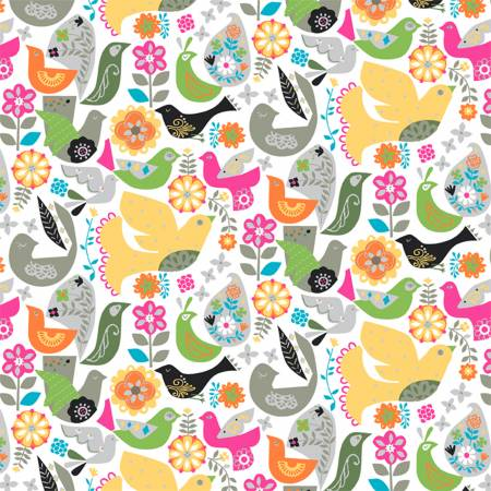 51949 2  Floral Flight Fiesta by Whistler Studios for Windham Fabrics. 100% cotton 43 wide