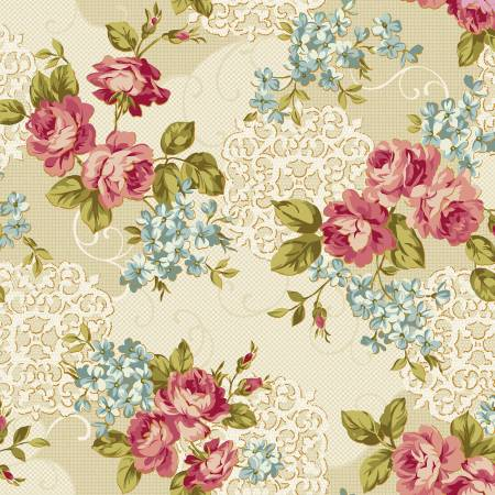 Cream Floral from the Spellbound Collection for Windham Fabrics