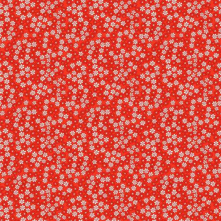 Storybook Tiny Daisies on Red