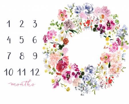 120) Kelly Milestone Baby Mat - Panel Floral