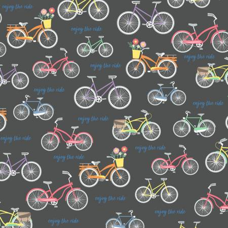 Enjoy The Ride Charcoal Bicycles