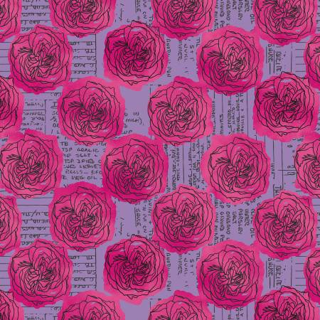 Norma Rose by Nathalie Barnes for Windham Fabrics - Kitchen - Lavender