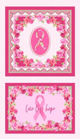 Multi Love Pink Scarf & Pillow Panel
