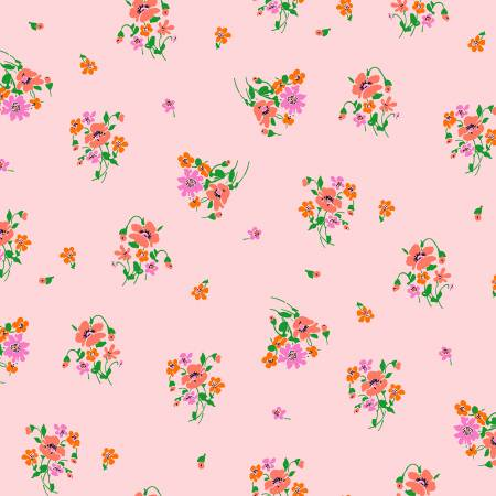 Posy by Annibel Wrigley for Windham Fabrics - Bouquet - Light Pink