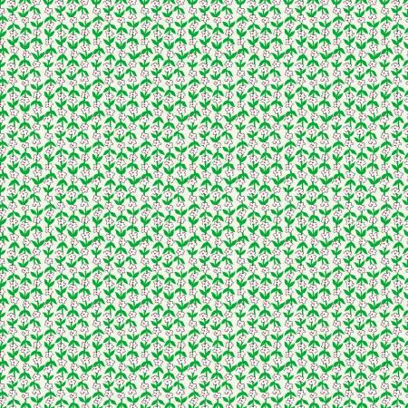 Green Posy Stripe 52034-5