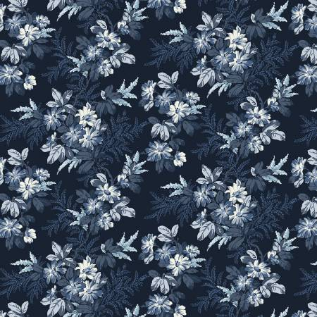 Blooming Branches 108in Wide Back Navy