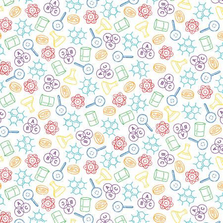 52040-X Multi Science Chem Lab It's Elementary! Windham Fabrics