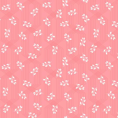 Colette - Coral Lattice Leaves by Whistler Studios