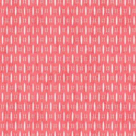 Colette - Dark Coral Textured Geo