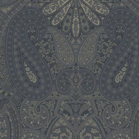 Indigo Paisley Reproduction