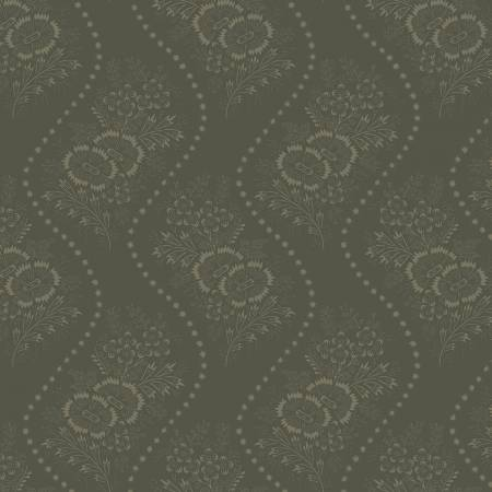 Green Wallpaper Floral Reproduction