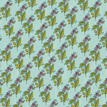 Bubbies Buttons and Blooms - Sky Floral