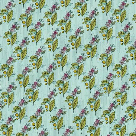 Bubbies Buttons & Blooms - Sky Floral