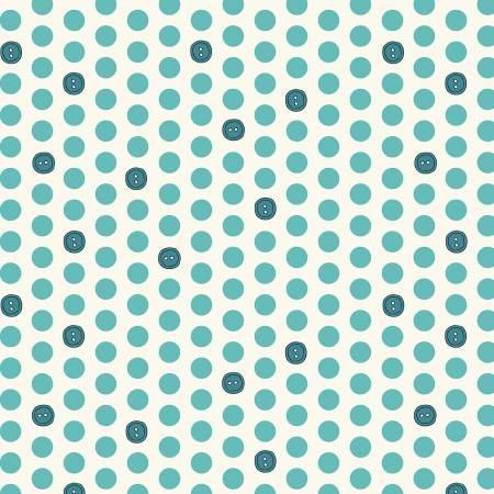 Bubbies Buttons and Blooms - Teal Button Dots