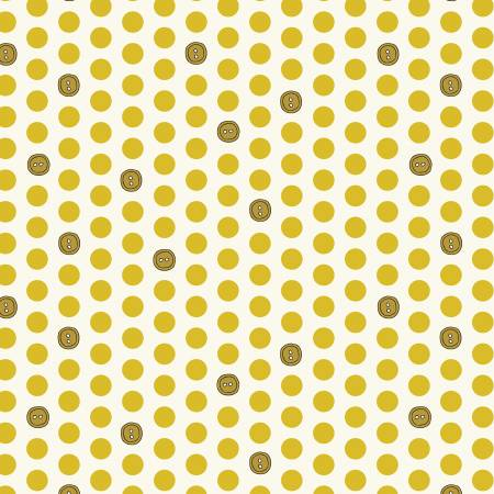 Bubbies Buttons and Blooms - Yellow Button Dots