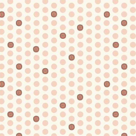Bubbies - Polka Dot Buttons in Strawberry 52087-8