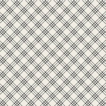 White and Black Textured Plaid