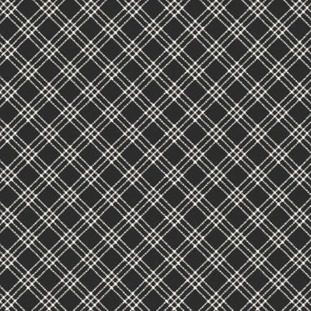 Windham Black Textured Plaid