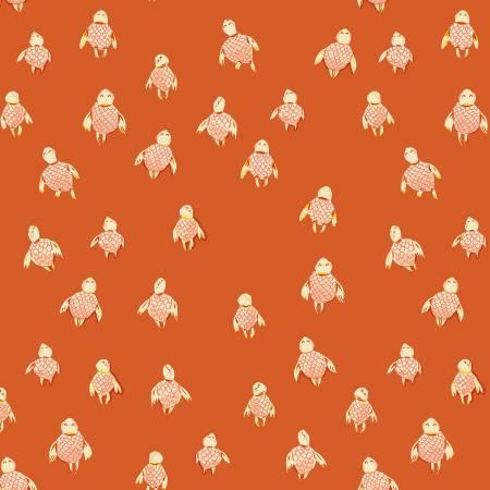 Heather Ross Malibu Sea Turtles Orange