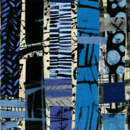 52186D X Geometric The Blue One by Marcia Derse for Windham Fabrics. 100% cotton 43 wide