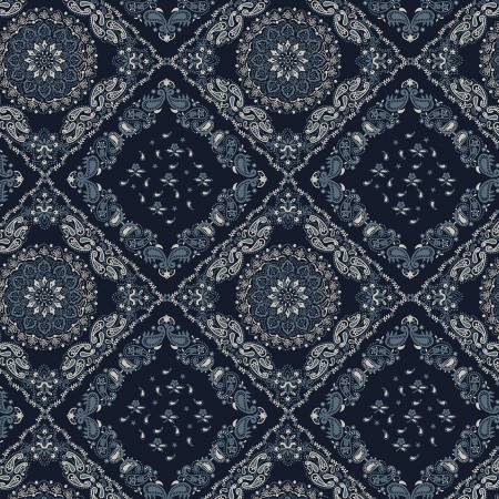 Kingston Indigo Bandana 52198-2