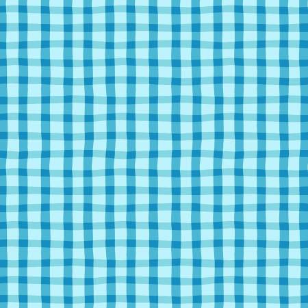Turquoise Loose Gingham