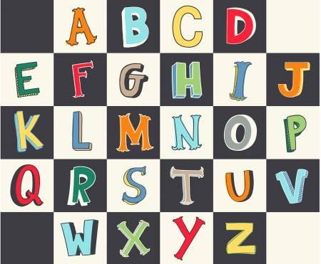 Multi Alphabet Blocks Panel