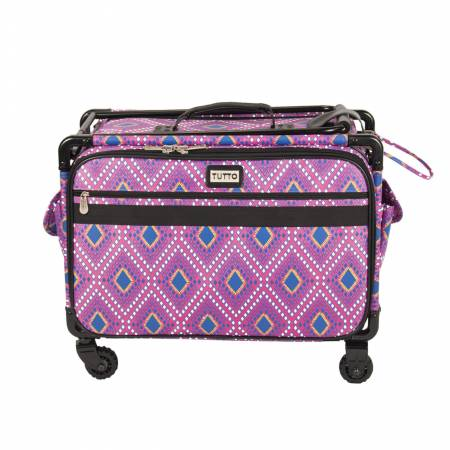 ACCESS- Tutto Sewing Machine Case On Wheels Large 21in Pink Diamond