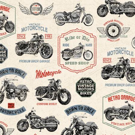 Born to Ride - Neutral Vintage Motorcycles