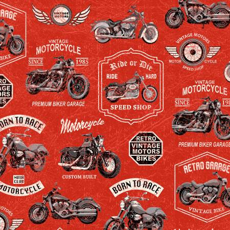 Born to Ride, Red Vintage Motorcycles