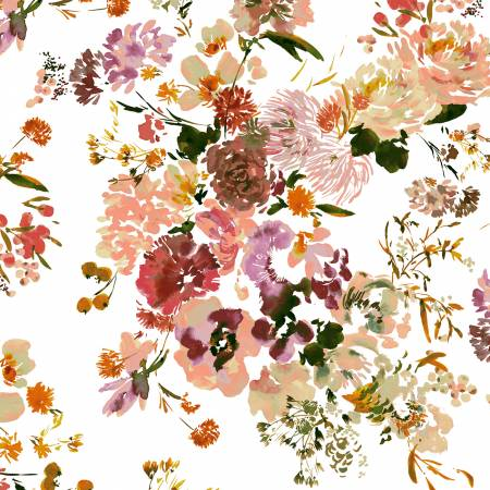 Wildflower Coral by Kelly Ventura for Windham Fabrics