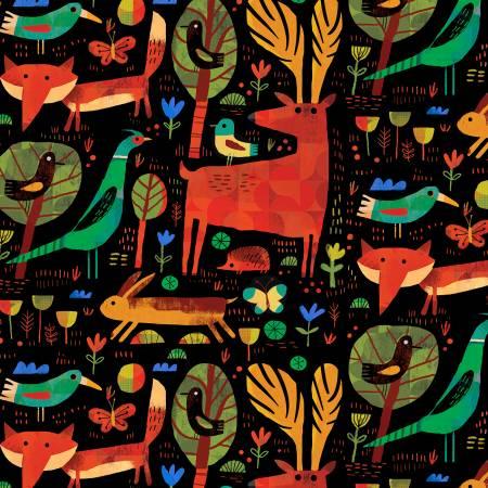 52283D-4 Black Forest Critter Woodland Windham Fabrics